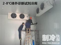 2-8℃的体外诊断试剂医药冷库安装施工中