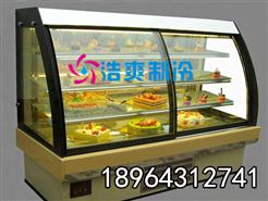供应全新款前开门直角蛋糕柜_寿司冷藏展示柜