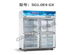工厂直销四门玻璃冷藏展示柜_立式冷藏展示柜的价格