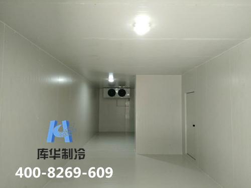 冷库施工现场:杭州桐庐果蔬冷藏保鲜库的安设