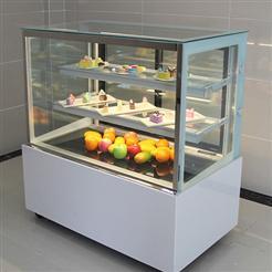 厂家可定做风冷圆弧前后开门蛋糕柜_水果饮料冷藏保鲜柜