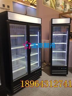 茶饮店用到的风冷立式冰箱展示柜
