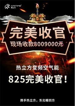 """热立方""""百城备战采暖季""""持续变革东北采暖市场,825订货会斩获订单超800万"""