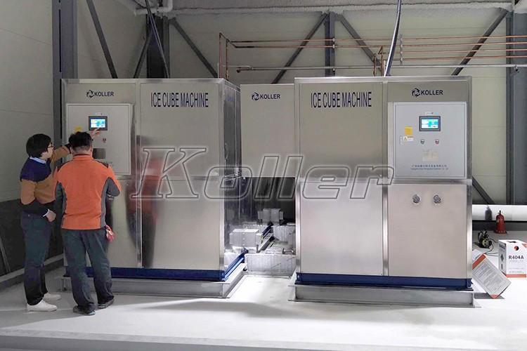 韩国 大型食用方冰机CV8000(2台) 日产量16吨