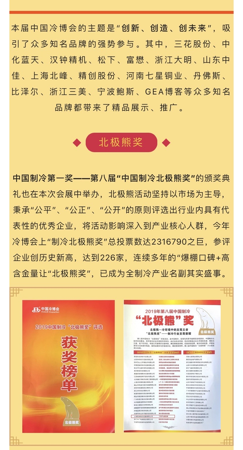 【喜报】猛火?丁烷气减压阀荣获第8届中国制冷北极熊奖
