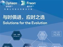 科慕展出适用于多种应用的Opteon(欧特昂)低GWP制冷剂