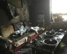 海尔空调爆炸,新房被烧
